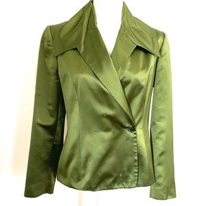 Vintage Carolina Herrera New York Silk Jacket 8